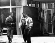 Ford C. Greene, Lawrence Williams, and Ralph A. Long, Jr., first African-American students at Georgia Tech, Atlanta, Georgia, September 18, 1961.