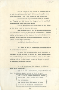 Notes for meeting with Leonard Skeggs