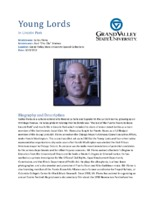 Carlos Flores video interview and biography