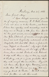 Letter from William Lloyd Garrison, Roxbury, [Mass.], to Samuel May, Oct. 25, 1868