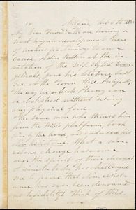 Letter from George Whittemore Stacy, Milford, [Massachusetts], to William Lloyd Garrison, 1860 Feb[ruary] 6th