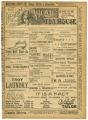 """""""Pique"""" theater program, Bijou Opera House, Minneapolis, Minnesota"""