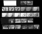 Set of negatives by Clinton Wright including Yolanda McKinney, Governor Sawyer at Centers, Elaine Brookman's party, and sorority women, 1966