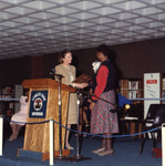 County Librarian Shakes Hands with Gloria Naylor