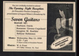 Seven Guitars [production records] (Box 6, Folder 14)