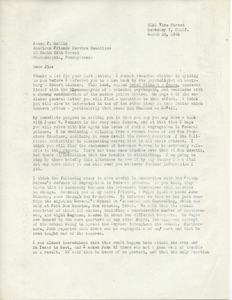 Letter from Caleb Foote to James P. Mullin