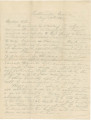 Letter from Henry Semple in Chattanooga, Tennessee, to his wife, Emily.
