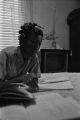 Josephine Bradford doing homework in her bedroom at her parents' home in Montgomery, Alabama.
