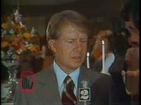 WSB-TV newsfilm clip of governor Jimmy Carter opposed to busing to achieve desegregation, Atlanta, Georgia, 1972 November 26