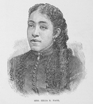 Mrs. Zelia R. Page. Dramatist, Teacher of Natural Science; Friend of the Poor
