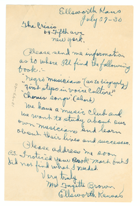 Letter from Fayette Brown to The Crisis