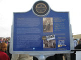 Holly Ridge Cemetery: back side of Charley Patton historical marker