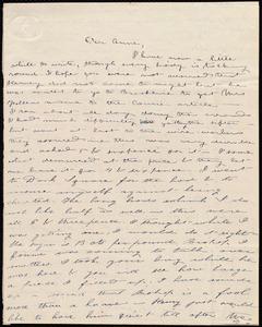 Letter from Deborah Weston, [Boston?, Mass.], to Anne Warren Weston, [1840 Dec.?]