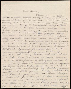 Thumbnail for Letter from Deborah Weston, [Boston?, Mass.], to Anne Warren Weston, [1840 Dec.?]