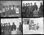 Set of negatives by Clinton Wright including the Osbourn family in Windsor Park, Ladies 12 Club, Kit Karson's 6th grade debaters, and Wild Goose Bar, 1967
