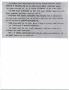 News Script: Methodist churches unite