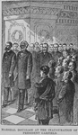 Marshal Douglass at the inauguration of President Garfield