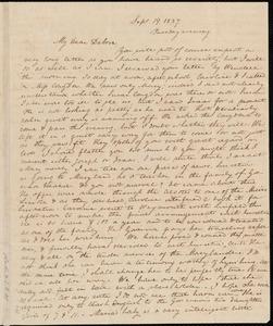 Letter from Anne Warren Weston to Deborah Weston, Sept. 19, 1837, Tuesday evening