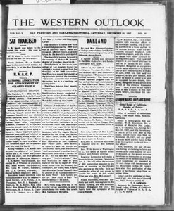 The Western Outlook (San Francisco and Oakland, Calif.), Vol. 34, No. 10, Ed. 1 Saturday, December 10, 1927 The Western Outlook