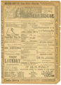 """A Fair Rebel"" theater program, Bijou Opera House, Minneapolis, Minnesota"