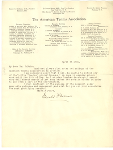 Letter from Gerald F. Norman to W. E. B. Du Bois
