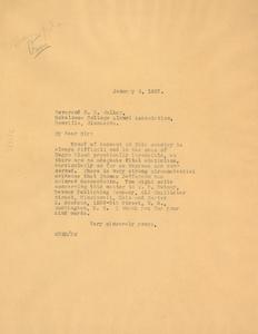 Letter from W. E. B. Du Bois to Reverend C. E. Walker