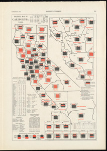 Political map of California. 1888