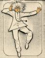 Costume design drawing, mad scientist, Las Vegas, June 5, 1980