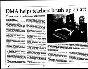[The Dallas Morning News, 'DMA helps teachers brush up on art']