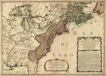 Carte du Canada et de la Louisiane qui forment la Nouvelle France et des colonies angloises ou sont representez les pays contestez