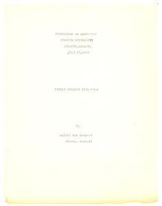 Student family histories: Sampson, Willie Jones (Adams, Washington, Green)