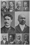 Chairman and Officers Local Committee of Arrangements; 3. Rev. O. J. W. Scott, D. D., Chairman Local Committee; 9. Rev. S. G. Lamkins, B. D., Corresponding Secretary; 7. Rev. Walter H. Brooks, B. D., First Vice-President; 2. Rev. P. A. Wallace, D. D., 3rd Vice-President; 4. Rev. D. E. Wiseman, A. M., 7th Vice-President; 6. Rev. J. I. Loving, B. D., Recording Secretary; 10. Rev. W. H. Davenport, D. D., 1st Asst. Recording Secretary; 8. Rev. J. Anderson Taylor, Treasurer; 5. James L. Neal, Esq., Financial Secretary; 1. Rev. L. E. B. Rosser, Member of the Local Com. of Arrangements