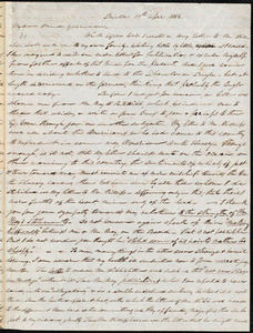 Letter from Parker Pillsbury, Bristol, [England], to William Lloyd Garrison, 19th April 1854