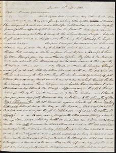 Letter from Parker Pillsbury, Bristol, [England], to William Lloyd Garrison, 19th April 1854