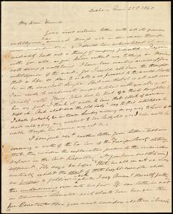 Letter from Edmund Quincy, Dedham, [Mass.], to Caroline Weston, June 25th, 1840