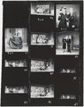 "Contact sheet of black-and-white negatives, publicity photographs and scenes from Young People's Theatre production of ""Seven Little Rebels"" performed at Kingsbury Hall, University of Utah, January 16-17, 1953 [2]"