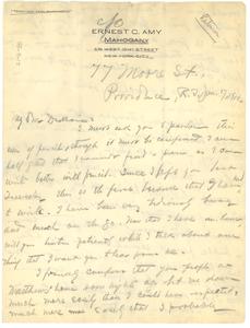 Letter from John Hope to W. E. B. Du Bois
