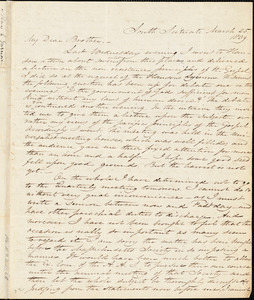 Letter from Samuel Joseph May, South Scituate, [Massachusetts], to William Lloyd Garrison, 1839 March 25