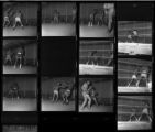 Set of negatives by Clinton Wright of a boxing match at Doolittle, 1970