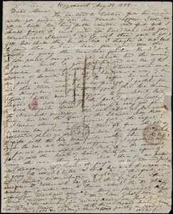 Letter from Anne Warren Weston, Weymouth, [Mass.], to Maria Weston Chapman, Aug. 22, 1848