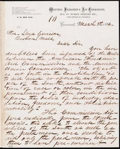 Letter from Richard Sutton Rust, Cincinnati, [Ohio], to William Lloyd Garrison, March 8th 1866