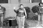 Woman speaking at the 1986 y-Walk