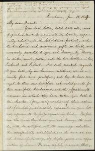 Letter from William Lloyd Garrison, Roxbury, [Mass.], to Francis Jackson Garrison, Jan. 18, 1867