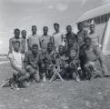 Group of young baseball players