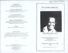 Funeral Programs: Morrison, Morrow, Moseley, Muhammad