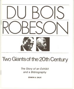 Du Bois Robeson two giants of the 20th century
