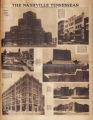 Photomontage of various new buildings in Nashville. Nashville Tennessean, 1930 August 10.