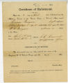 Certificate of enlistment for Dennis Morgan for U. S. colored troops