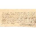 Mary Caldwell receipt for purchase of a slave, January 14th, 1854