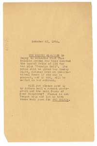 Letter from W. E. B. Du Bois to Eulalie Spence